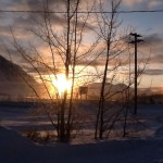 Sundogs greet the Morning on a Winter's Day