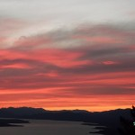 Fiery Sunset Lights a Yukon Midsummer Night Skyline